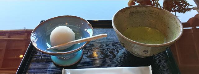 五十鈴茶屋のいちご大福と抹茶