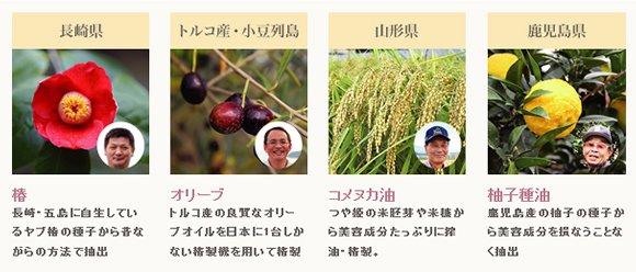 美容液オイル coyori こより は、4種類の植物オイル配合